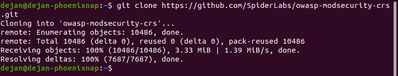 Clone the OWASP GitHub repository.