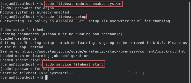 How to configure the filebeat module for Elastic stack.
