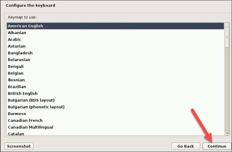 choosing keyboard option