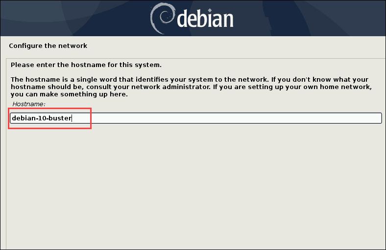 configure network menu option