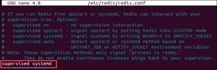 Modify Redis configuration file to manage Redis as a service.