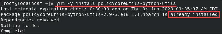 Set up SELinux.