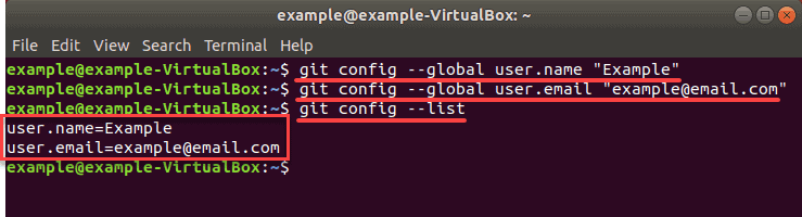 confirmation of email during git setup on ubuntu