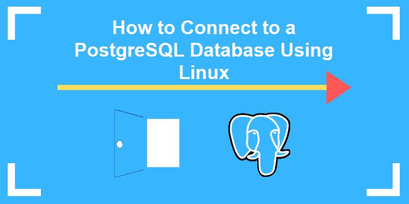 connect to a postgresql database