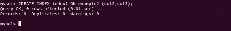 How to create mysql index