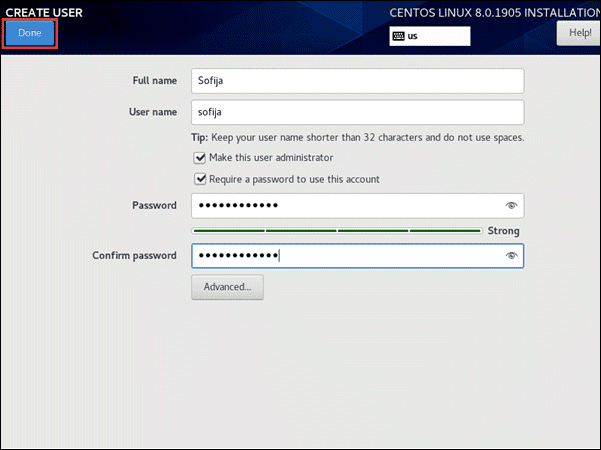Configure user