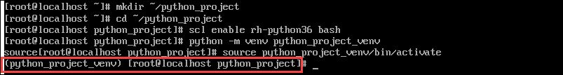 create virtual envirnoment for new python project