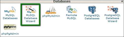 databases in cPanel