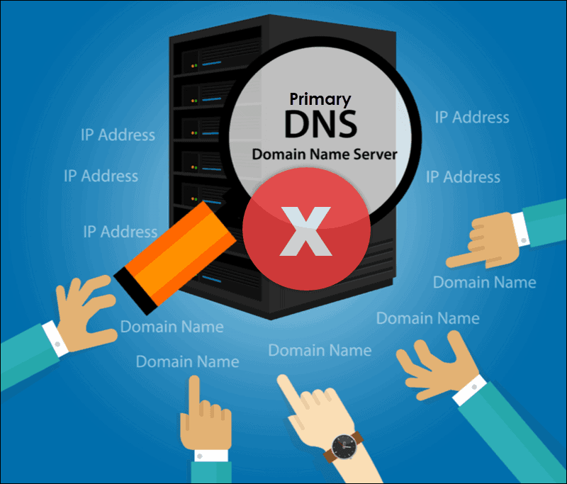 protecting a primary dns server from attack