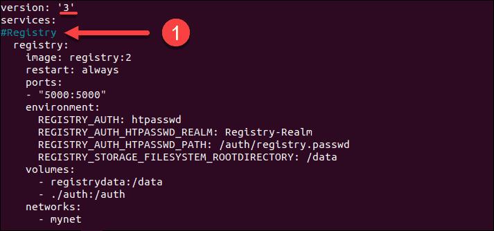 The configuration of Docker Compose script explained