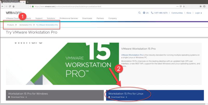 Download VMware 15 Pro.
