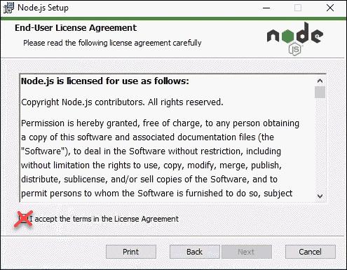 Node.js licensing agreement