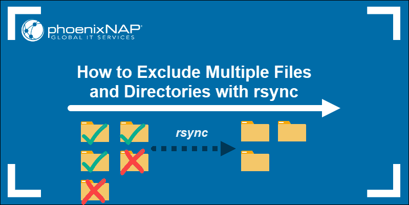 Guide on how to use rsynic to exclude Files and Directories.