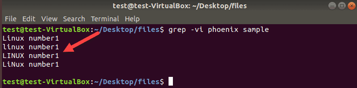 example of excluding lines in grep