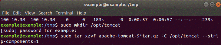 Extract tar.gz file.