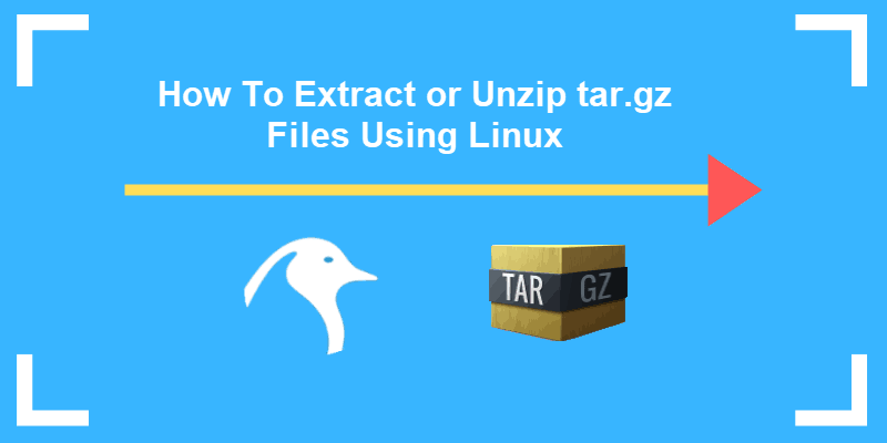 tutorial on extracting files using tar.gz from command line