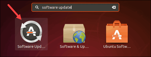 Find software updater on Ubuntu, using GUI.