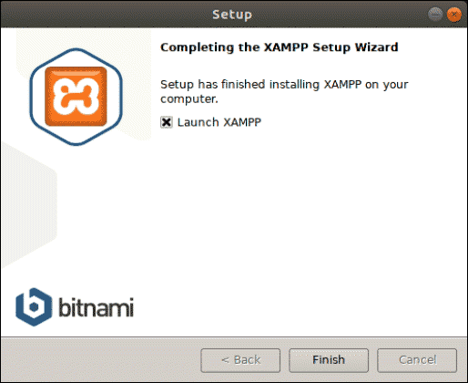 completing the xampp setup wizard