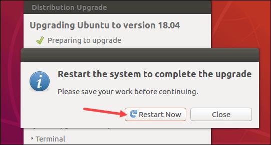 Finish Ubuntu 18.04 upgrade.