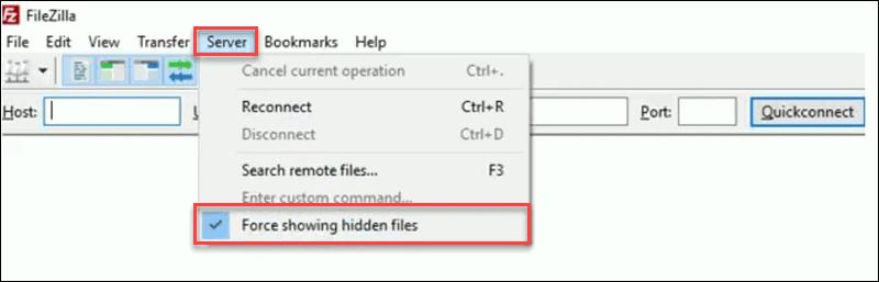 force-hidden-file-filezilla-htaccess-wordpress