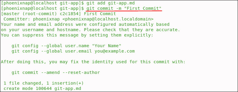 Confirmation of first git commit
