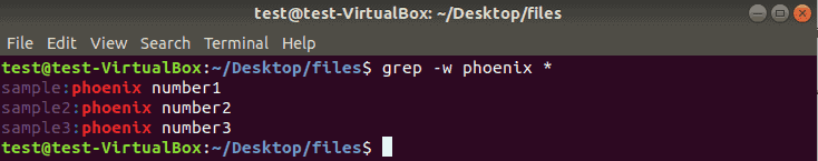 example of grep print lines with whole word matches
