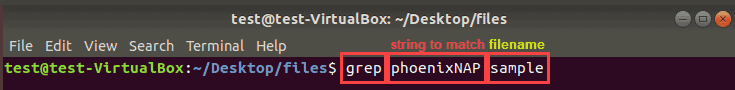 grep simple syntax example