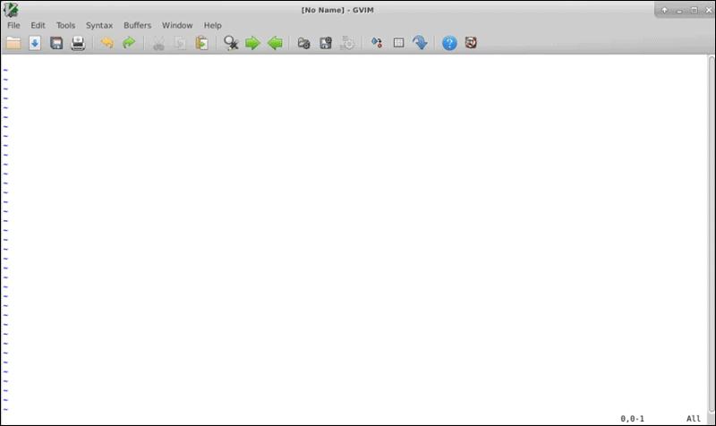 gVim editor interface