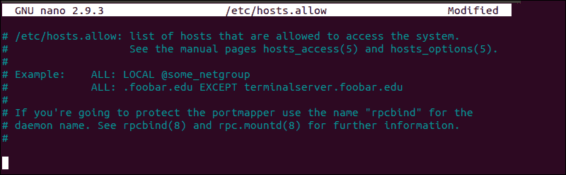 """Editing the contents of a standard hosts allow file to resolve """"connection reset by peer"""" SSH error."""