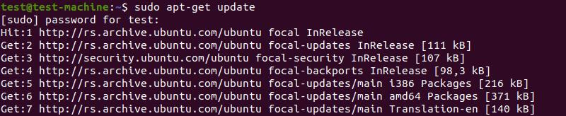 Updating software repositories