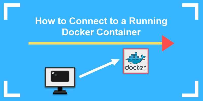 how to connect to a running docker container
