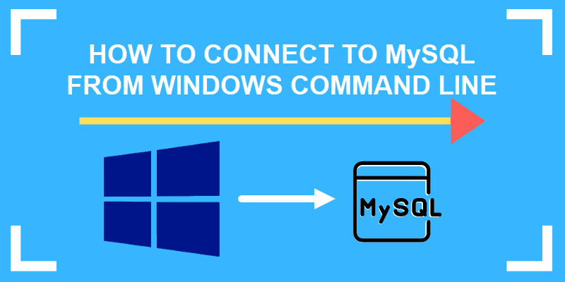 how to connect to mysql from windows command line