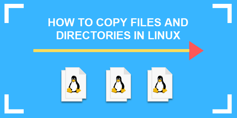 how to copy files and directories in linux