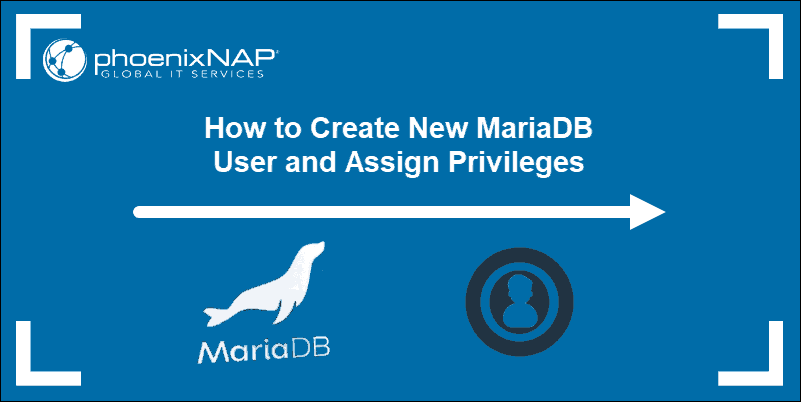 tutorial header on creating and assigning privileges in MariaDB