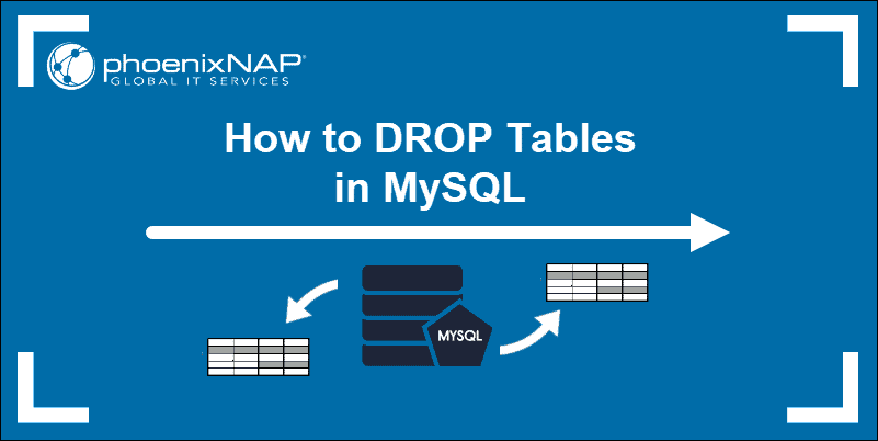 mysql tutorial on drop, or delete, a table from a MySQL database.