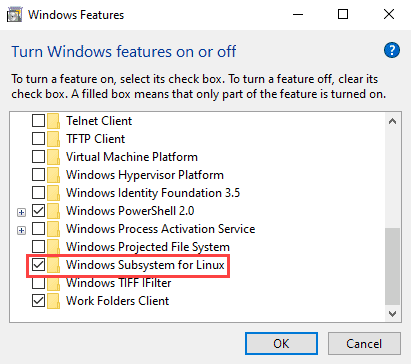 Turning Windows Subsystem for Linux on, to install Ansible on Windows