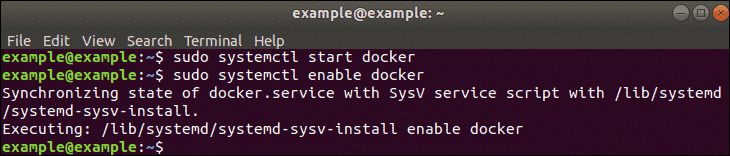 enable docker command, in terminal