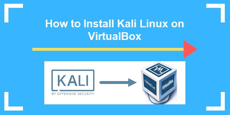 kali linux with arrow pointing to virtualbox