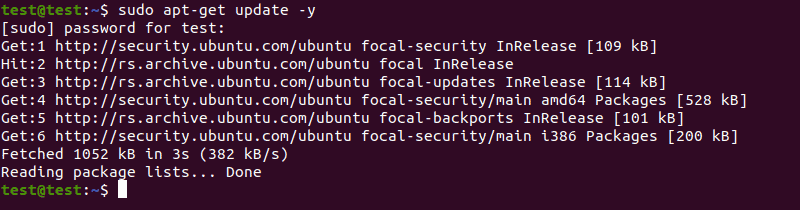 Before installing Puppet, update your Ubuntu system