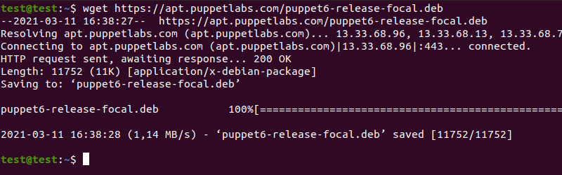 Download the Puppet installation files