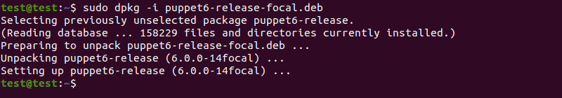 Deploy the Puppet installation