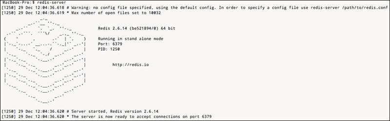 Start Redis server on Mac