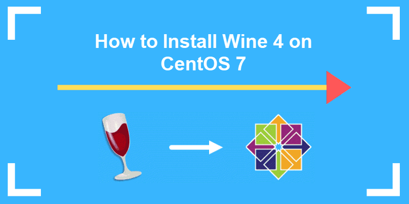 Header of tutorial on how to install wine on CentOS