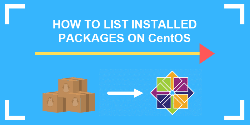 how to list installed packages on centos