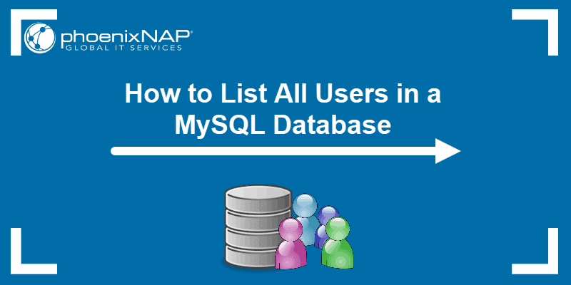 Tutorial on how to list all users in a MySQL database.