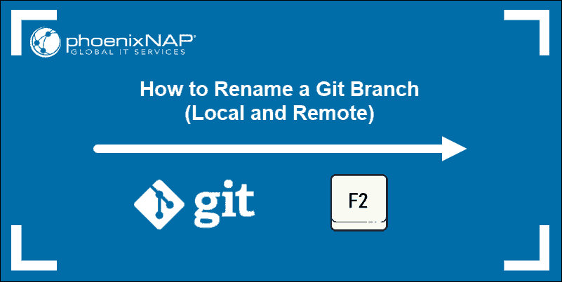 tutorial on renaming or changing the name of a local and remote branch in git