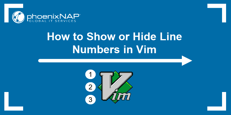 Tutorial on how to display line numbers in Vim or vi text editor