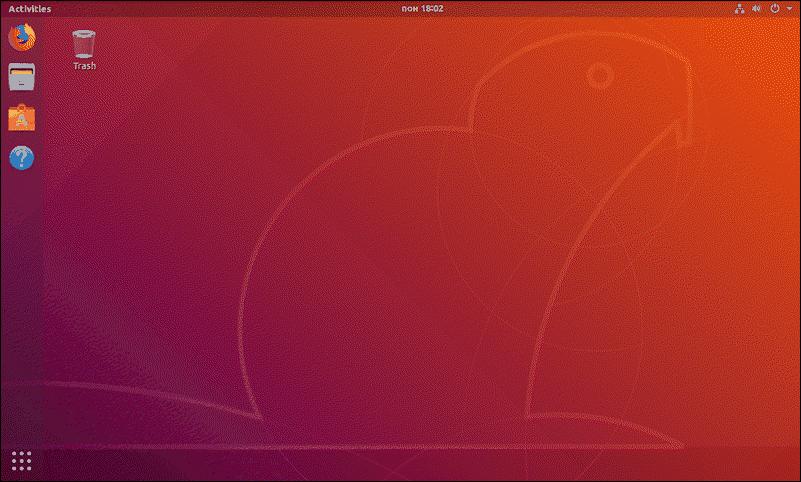 Ubuntu GUI desktop.