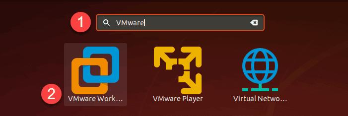 Start VMware from Ubuntu GUI.