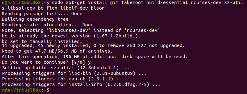Installing additional packages.